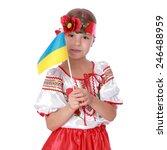 charming little girl in the...   Shutterstock . vector #246488959