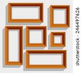 empty wooden brown picture... | Shutterstock .eps vector #246497626