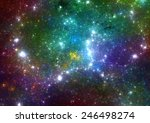 Colorful stars background - stock photo