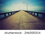 road to horizon. lomo effect | Shutterstock . vector #246500314