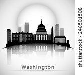 washington dc skyline design.... | Shutterstock .eps vector #246501508