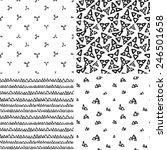 set of seamless geometric... | Shutterstock .eps vector #246501658