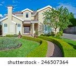 custom built luxury house with... | Shutterstock . vector #246507364