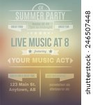 summer sunset background flyer... | Shutterstock .eps vector #246507448