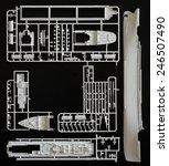 kit assembling plastic model... | Shutterstock . vector #246507490