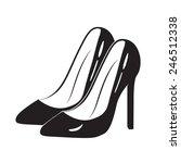 black classic high heel shoes....   Shutterstock .eps vector #246512338