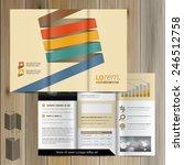 brochure template design with... | Shutterstock .eps vector #246512758