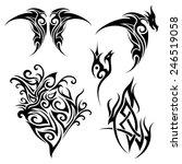 set of tribal tattoo. patterned ... | Shutterstock . vector #246519058