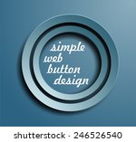 simple blue button design | Shutterstock .eps vector #246526540