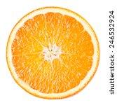 Orange Slice Isolated On White...