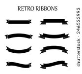 black retro ribbon set. | Shutterstock .eps vector #246532993