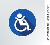 disabled icon.vector... | Shutterstock .eps vector #246539794