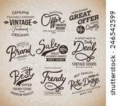assorted creative vintage... | Shutterstock .eps vector #246542599