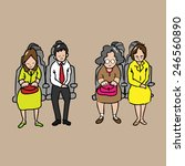 passengers on the seats cartoon ... | Shutterstock .eps vector #246560890