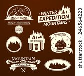 mountain logo and label set ... | Shutterstock .eps vector #246564223