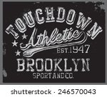 athletic tee graphic | Shutterstock .eps vector #246570043