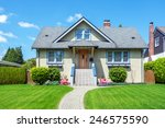 cozy house with beautiful... | Shutterstock . vector #246575590