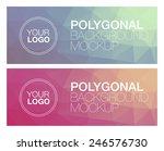 two horizontal polygonal banners | Shutterstock .eps vector #246576730