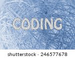 the word coding made of binary... | Shutterstock . vector #246577678