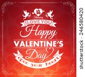 happy valentine's day card with ... | Shutterstock .eps vector #246580420