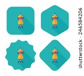 shopping mannequin flat icon... | Shutterstock .eps vector #246584206