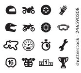 motorcycle racing icons | Shutterstock .eps vector #246590308