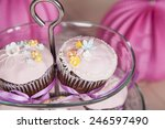 cookies shaped flowers decorated | Shutterstock . vector #246597490