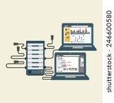 computer server | Shutterstock .eps vector #246600580