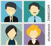 character of young business men ... | Shutterstock .eps vector #246601249