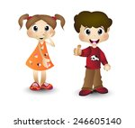 boy and girl  children  kids | Shutterstock . vector #246605140
