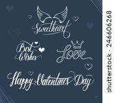 valentines day illustration and ... | Shutterstock .eps vector #246606268