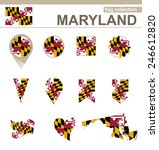 maryland flag collection  usa... | Shutterstock .eps vector #246612820