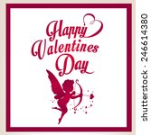 happy valentines day and... | Shutterstock .eps vector #246614380