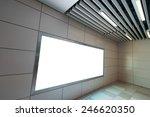blank billboard in subway...   Shutterstock . vector #246620350