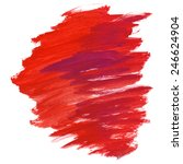 hand painted red strokes stain | Shutterstock . vector #246624904