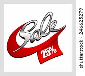 sale percent  | Shutterstock .eps vector #246625279
