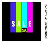 sale percent | Shutterstock .eps vector #246625993