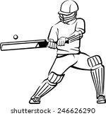 cricket bat swing | Shutterstock .eps vector #246626290