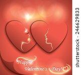 decorative paper hearts   Shutterstock .eps vector #246629833