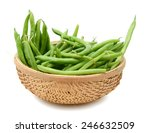 Green Beans In The Basket On...