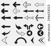 arrow sign icon set | Shutterstock .eps vector #246633013