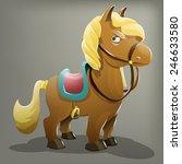 cartoon pony. vector...