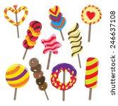 vector illustration of various... | Shutterstock .eps vector #246637108