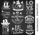 happy valentine's day elements... | Shutterstock .eps vector #246649243