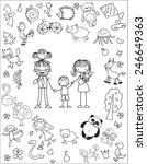 vector children's doodle of... | Shutterstock .eps vector #246649363