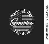 national freedom day america... | Shutterstock .eps vector #246659203