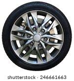 car wheel on white background ... | Shutterstock . vector #246661663