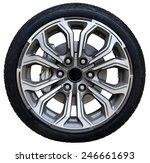car wheel on white background ... | Shutterstock . vector #246661693