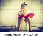Little Girl On Potty