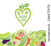 organic food colorful... | Shutterstock .eps vector #246672970